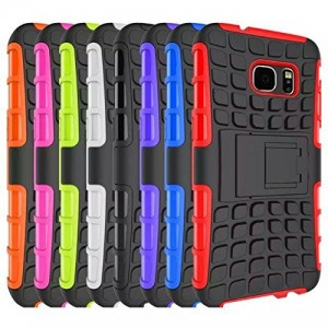 Galaxy S7 Case, Dual Layer Case with Kickstand