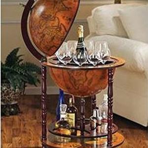 Sixteenth-Century Italian Replica Old World Globe Bar11