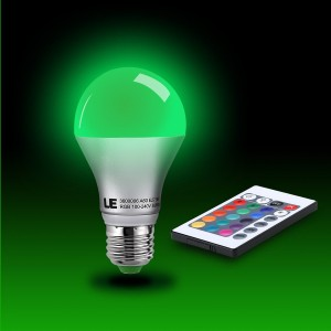 5W LED Bulbs, Color Changing with Remote Controller
