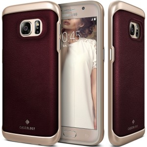 Galaxy S7 Case, Caseology Leather Bumper Cover2