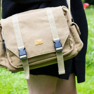 Tan Brown Canvas Carry Bag for Fisher Price Code-a-Pillar