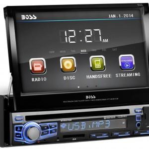 BOSS AUDIO BV9976B Single-DIN 7 inch Motorized Touchscreen1