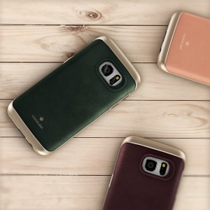 Galaxy S7 Case, Caseology Leather Bumper Cover