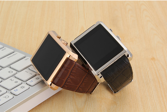 F8 High End Leather Band Smartwatch Phone5