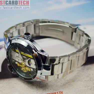 High-Grade Steel Male Fly-Wheel Watch J253