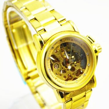 Stainless Steel Golden Fuyate Automatic Watch