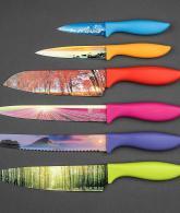 6 Piece Color Landscape Kitchen Knife Set in Luxury Gift Box3