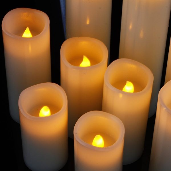 Candles Dancing FlameWith Remote Timer