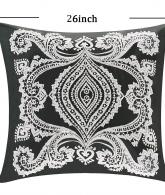 Organic Cotton Embroidered Cushion Cover Euro Pillow2