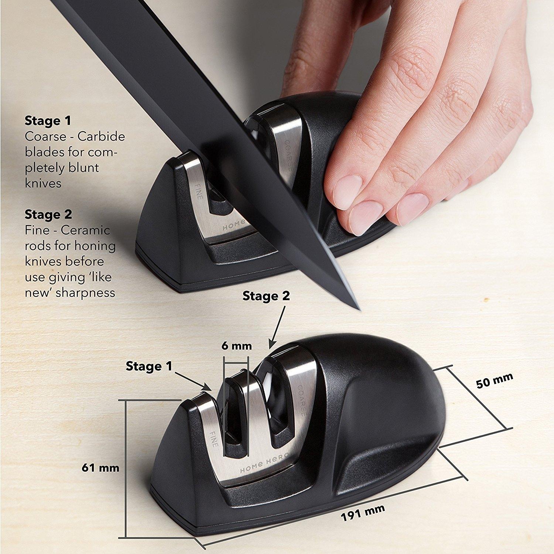 stainless steel sharpener and block kitchen knife set best offer. Black Bedroom Furniture Sets. Home Design Ideas