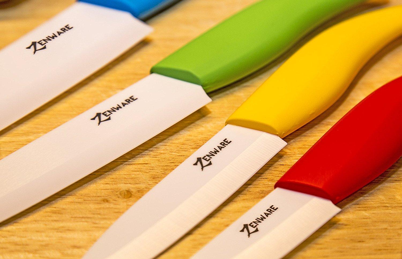 Zenware 9 Piece Multi Color Ceramic Cutlery Kitchen Knives