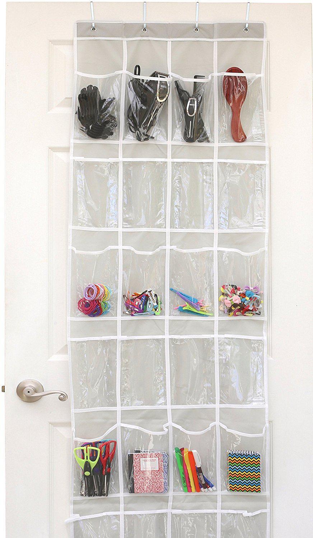 Clear Over The Door Hanging Shoe Organizer
