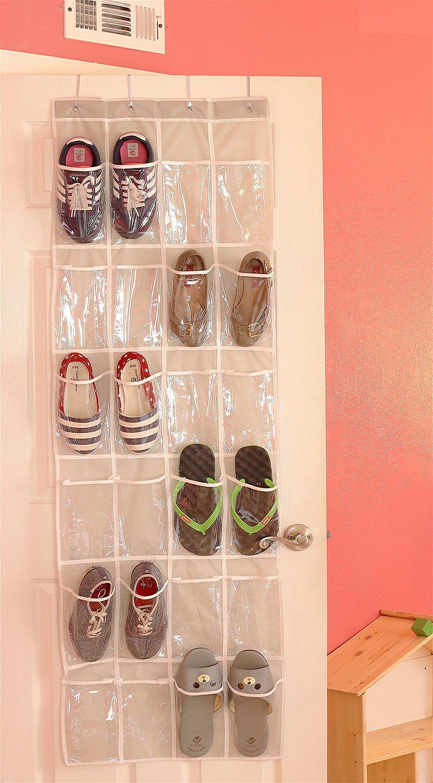 clear over the door hanging shoe organizer best offer reviews. Black Bedroom Furniture Sets. Home Design Ideas