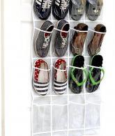 Clear Over the Door Hanging Shoe Organizer4