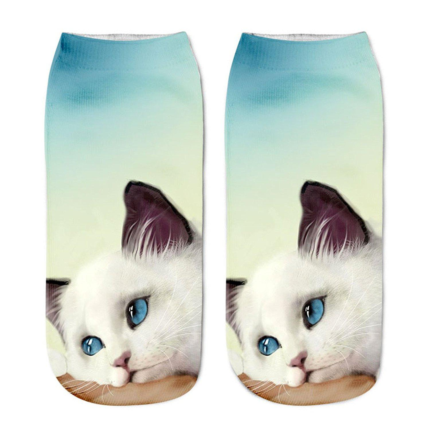Funny Cute Cat Unicorn Emoji Ankle Socks Gift