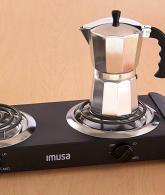 IMUSA USA GAU-80306 Electric Double Burner 1500-Watts2