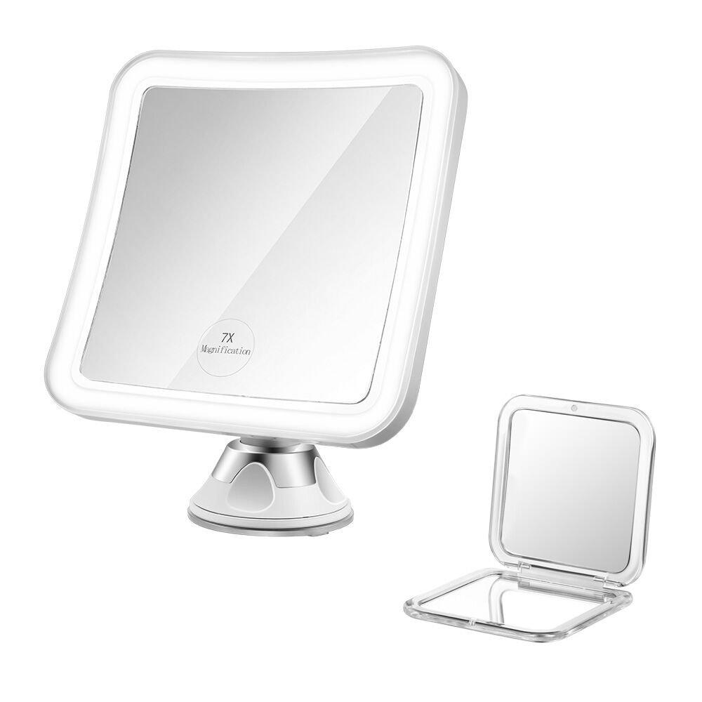 Jerrybox Led Lighted Makeup Mirror 7x Magnification