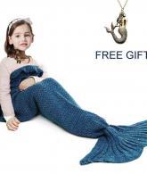 Mermaid Tail Blanket for Kids