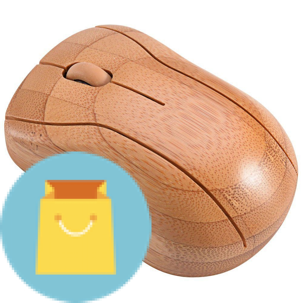Bamboo Wireless Optical Mouse Healthy Sweat-resistant Anti-radiation Wireless Mouse