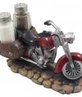 Decorative Red Motorcycle with Glass Salt and Pepper Shaker 2