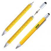 Jiulyning 6 in 1 Tech Tool Pen with Ruler, Levelgauge, Ballpoint Pen