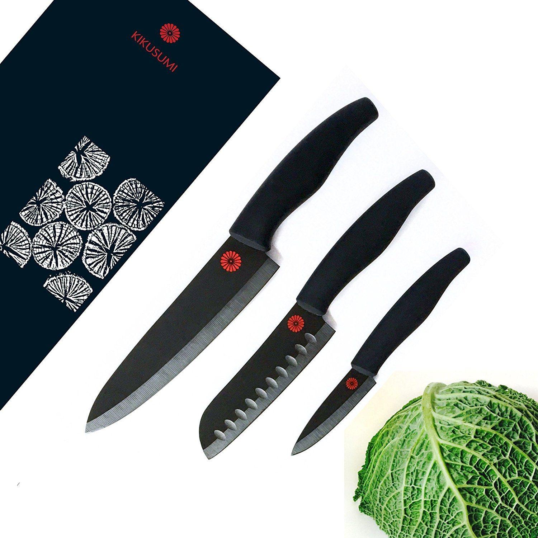 kikusumi 3 piece chef knife set sumi black handle best offer. Black Bedroom Furniture Sets. Home Design Ideas