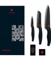 Kikusumi 3-Piece Chef Knife Set - SUMI Black Handle2