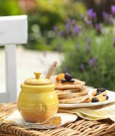 Le Creuset Stoneware 16-Ounce Honey Pot, Dijon