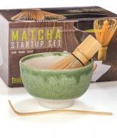 Matcha Green Tea Gift Set Japanese Made Green Bowl3