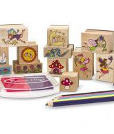 Melissa & Doug Stamp-a-Scene Stamp Pad Fairy Garden2