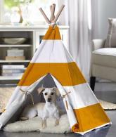 Merry Products Orange Stripe Pet Teepee3