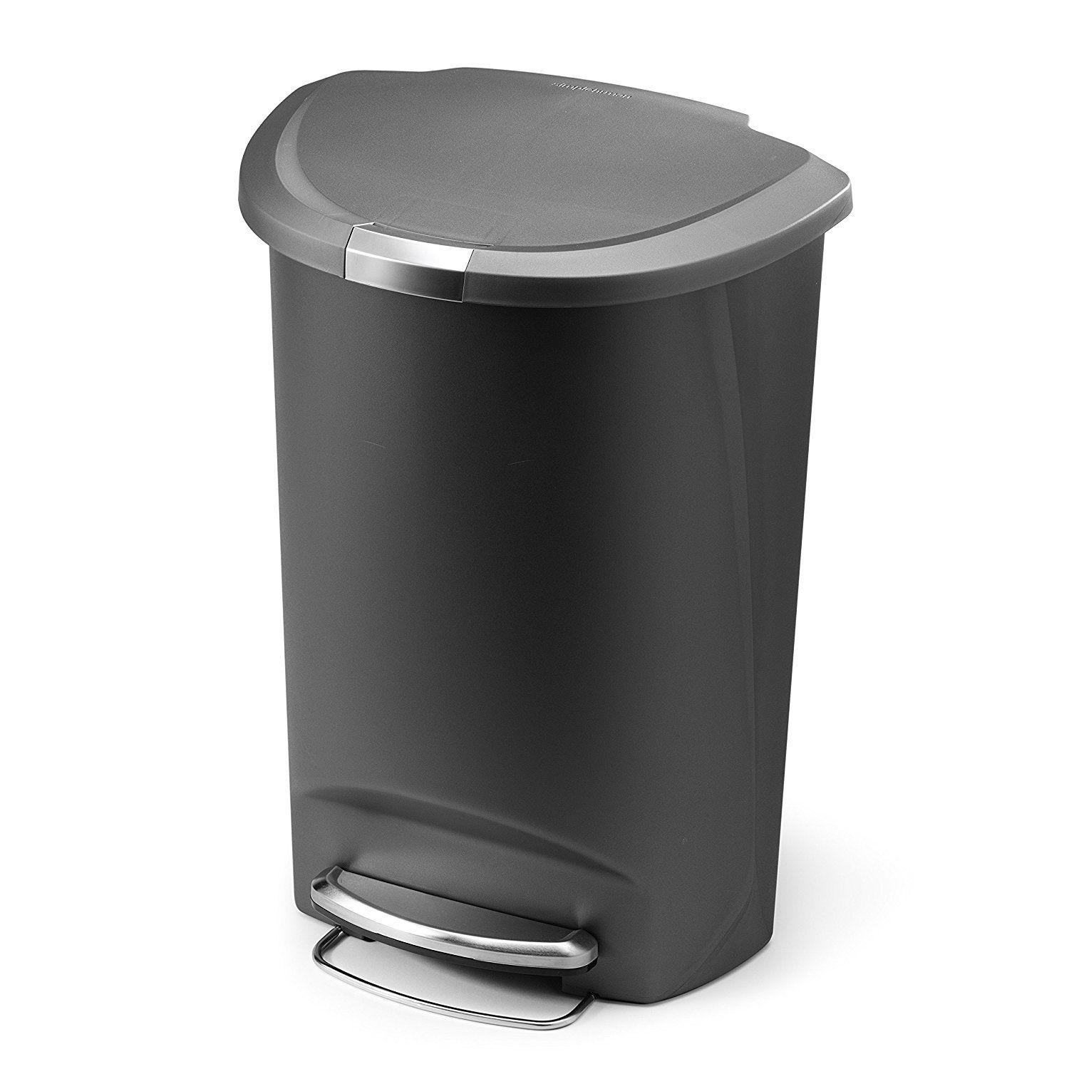 simplehuman semi round step trash can best offer reviews. Black Bedroom Furniture Sets. Home Design Ideas
