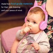 iClever BoostCare Kids Headphones Cat-inspired