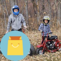 Coleman Powersports Gas Powered Mini Trail Bike