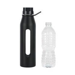 Glass Water Bottle with Silicone Sleeve and Twist Cap2