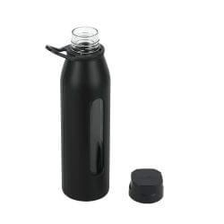 Glass Water Bottle with Silicone Sleeve and Twist Cap