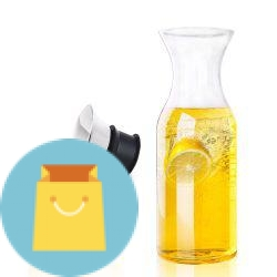 Glass Water Pitcher Glass Fridge Carafe Ice Tea Maker