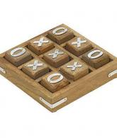 Handmade Wooden Tic Tac Toe Game for Kids 7 and Up
