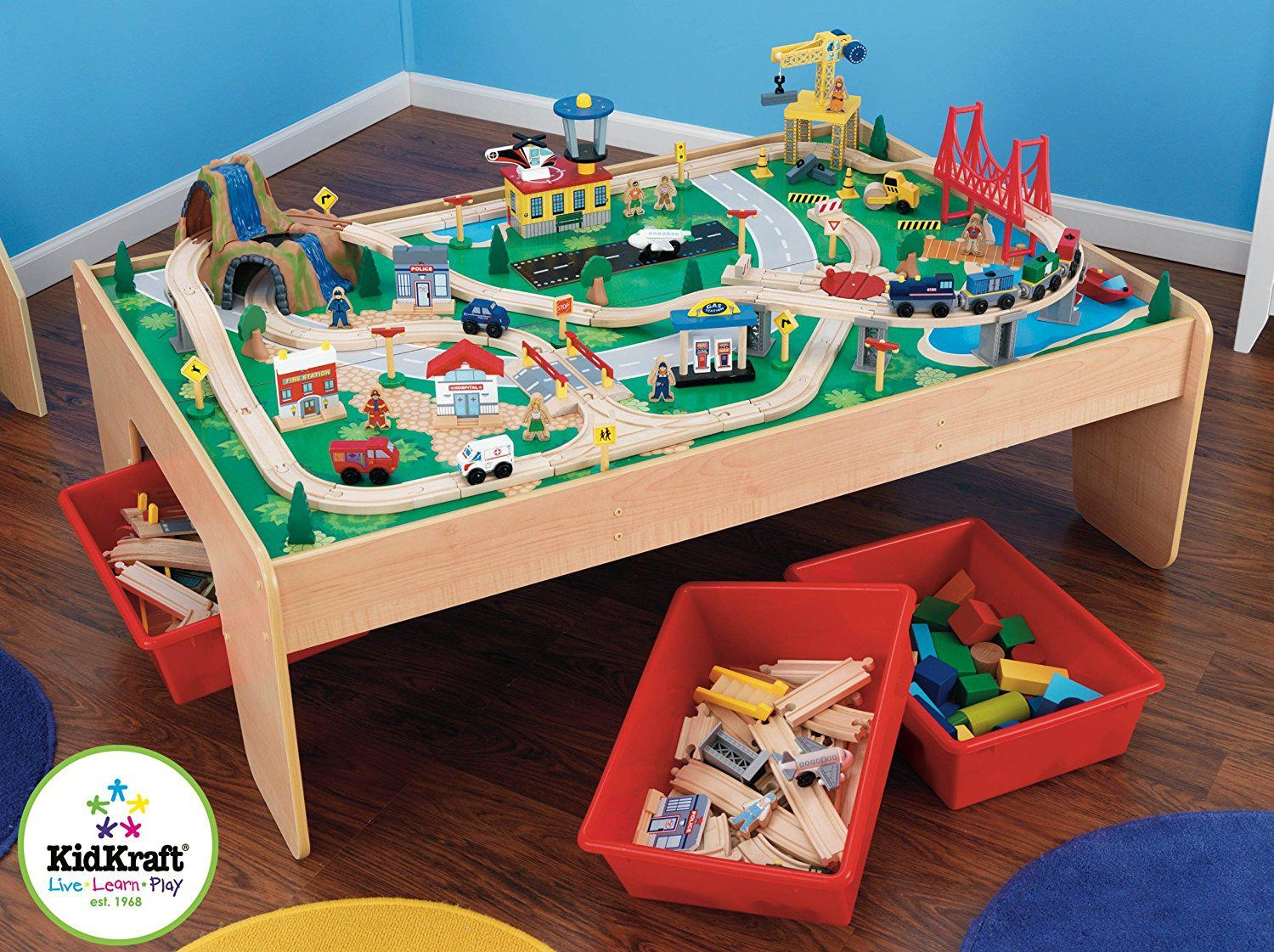 KidKraft Waterfall Mountain Train Set and Table Best Offer Reviews