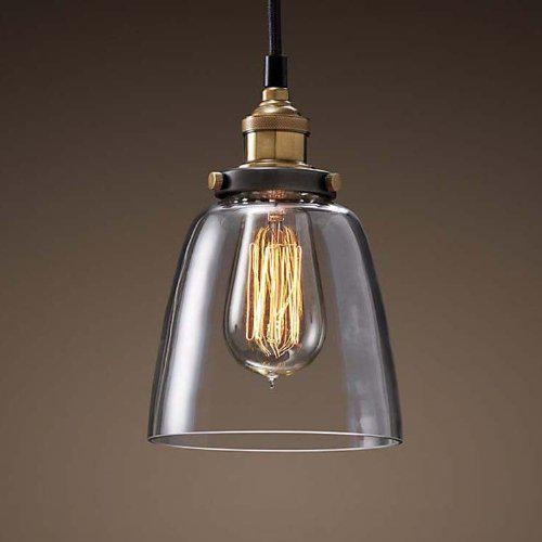 Mini glass shade hanging pendant light fixture best offer - Suspension ampoule vintage ...
