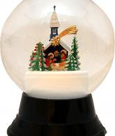 Perzy Decorative Snowglobe with Large Chapel