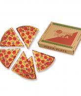 Pizza Slice Plates - Set of 6