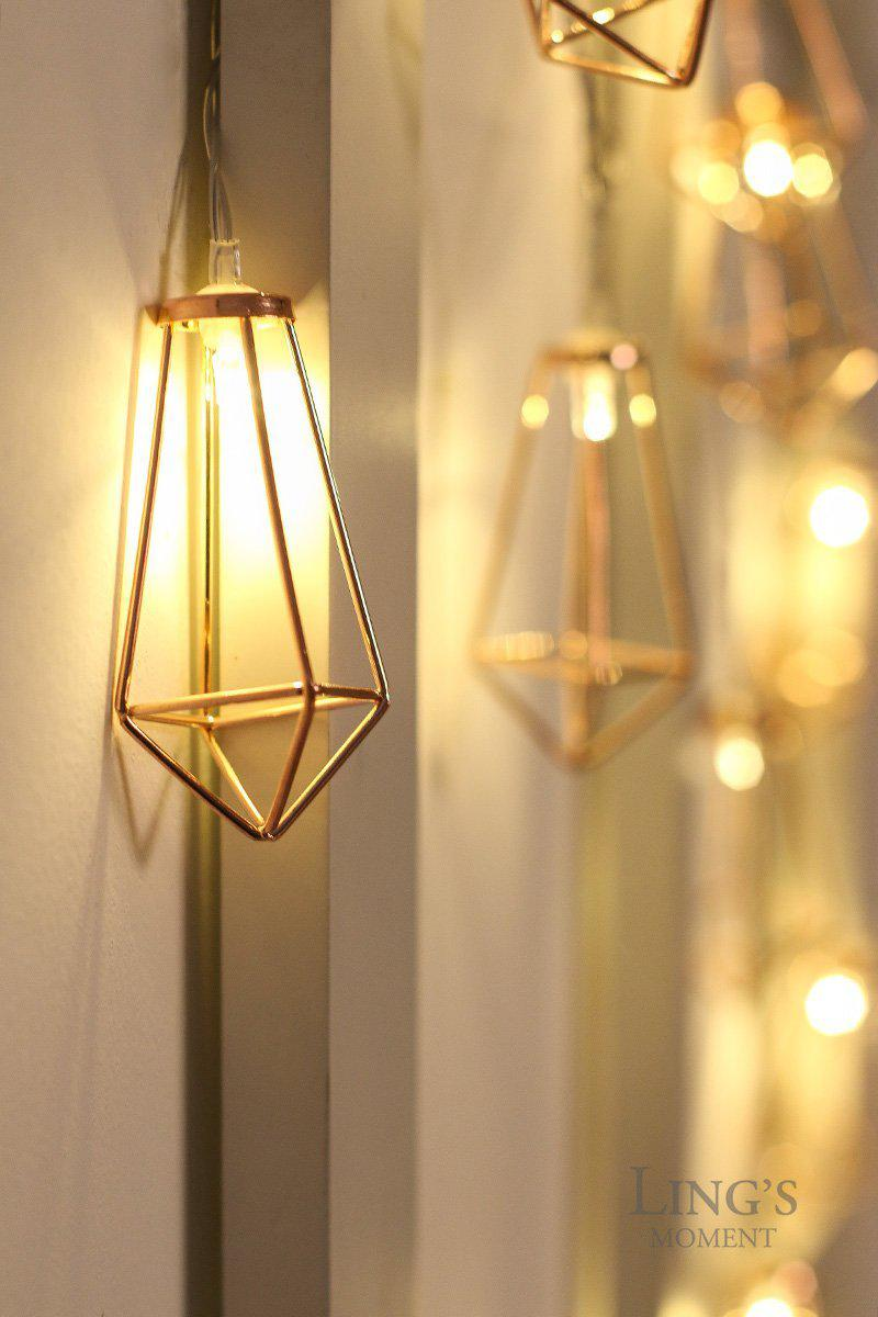 rose gold geometric boho led bedroom fairy lights best offer. Black Bedroom Furniture Sets. Home Design Ideas