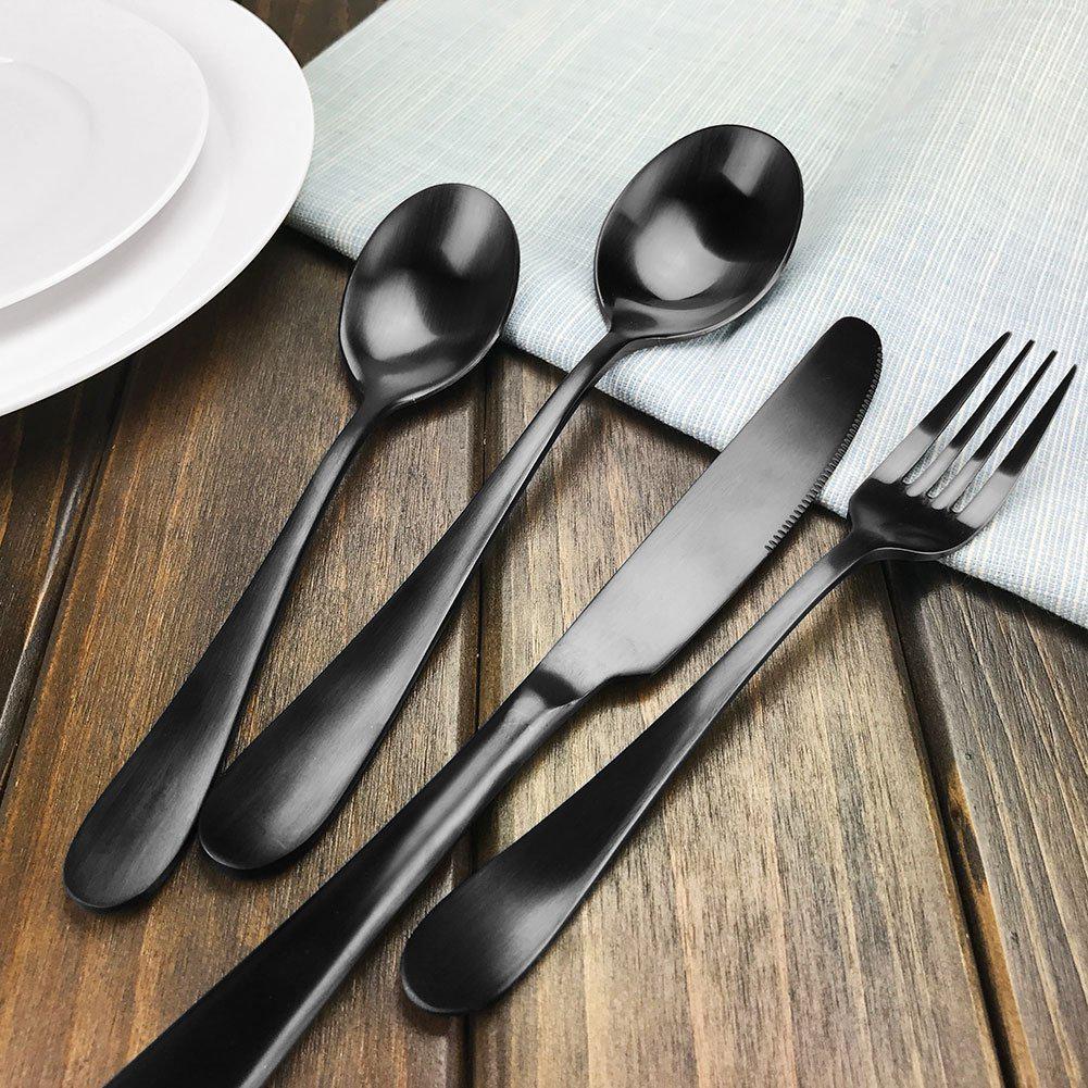 stainless steel dinnerware flatware sets best offer reviews. Black Bedroom Furniture Sets. Home Design Ideas