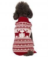 Vintage Holiday Festive Christmas Themed Dog Sweater