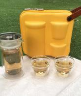 ZENS Portable Tea Set, 2 Travel Tea Cups