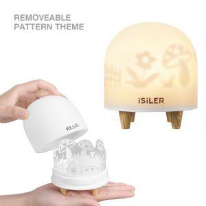 iSiLER Portable Silicone Cute Nursery Night Lamp
