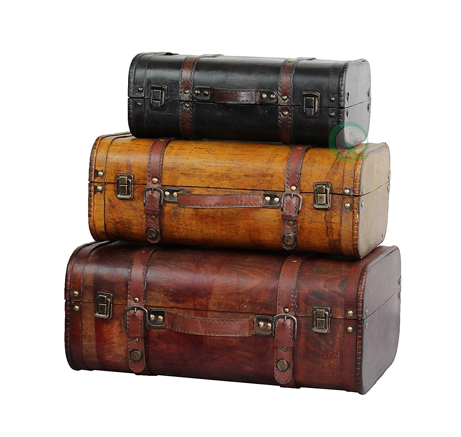 3-Colored Vintage Style Luggage Suitcase Set of 3 Best ...