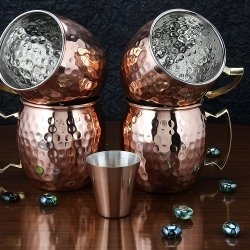 A29 Moscow Mule 100 % Solid Pure Copper Mug