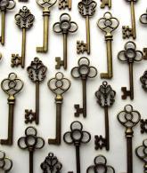 Aokbean Mixed Set of 30 Vintage Skeleton Keys